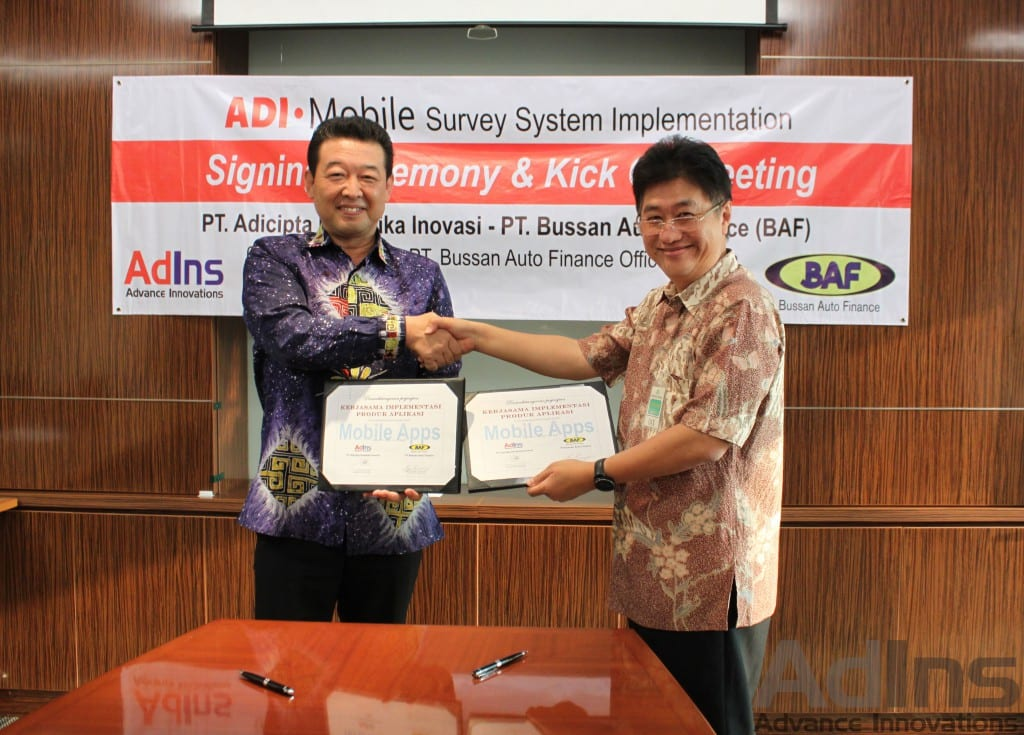 Mobile Survey System Signing Ceremony and Kick Off Meeting