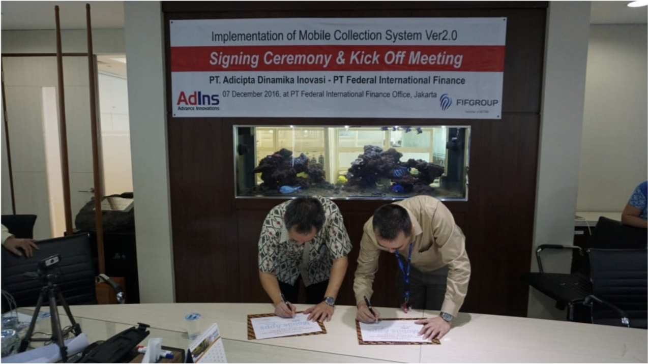 Mobile Collection System v2.0 Penandatanganan dan Kick Off Meeting dengan FIF Group
