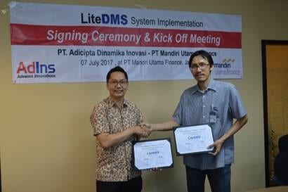 , LiteDMS System Signing Ceremony and Kick Off Meeting, Advance Innovations