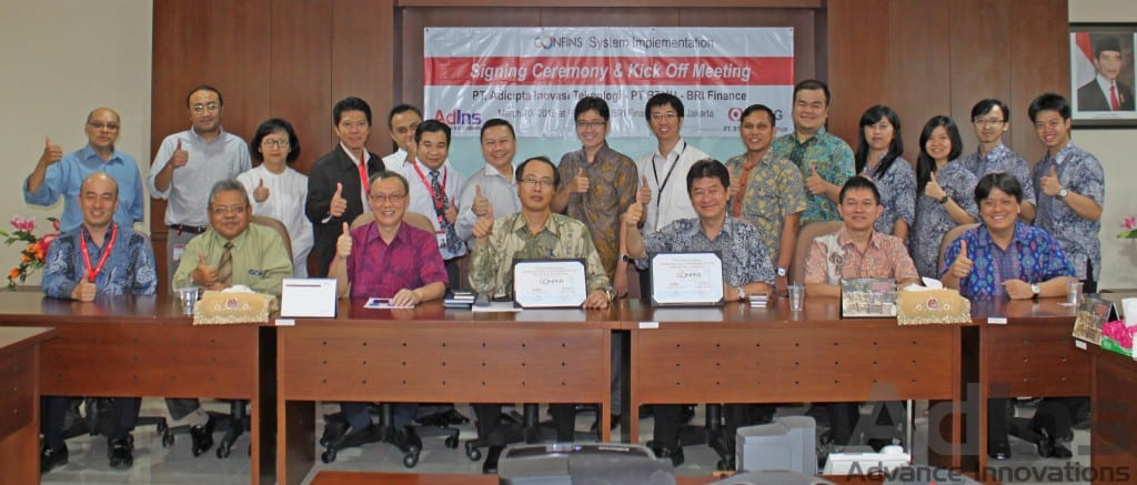 AdIns Mobile Signing Ceremony and Kick Off Meeting Bukopin Finance