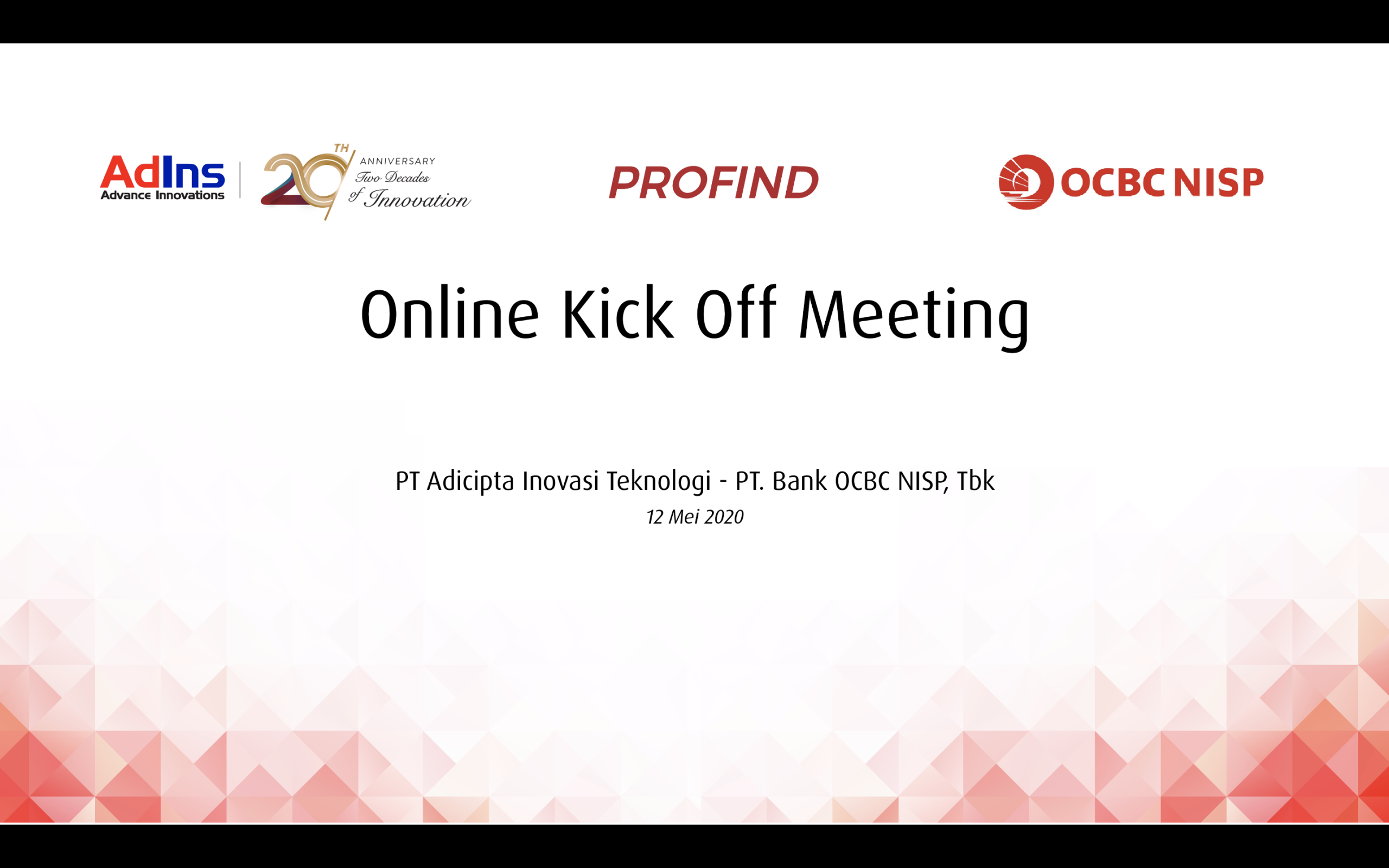ADINS – OCBC Online Inaugural Meeting (Kick Off Meeting) In the Occasion of PROFIND Implementation