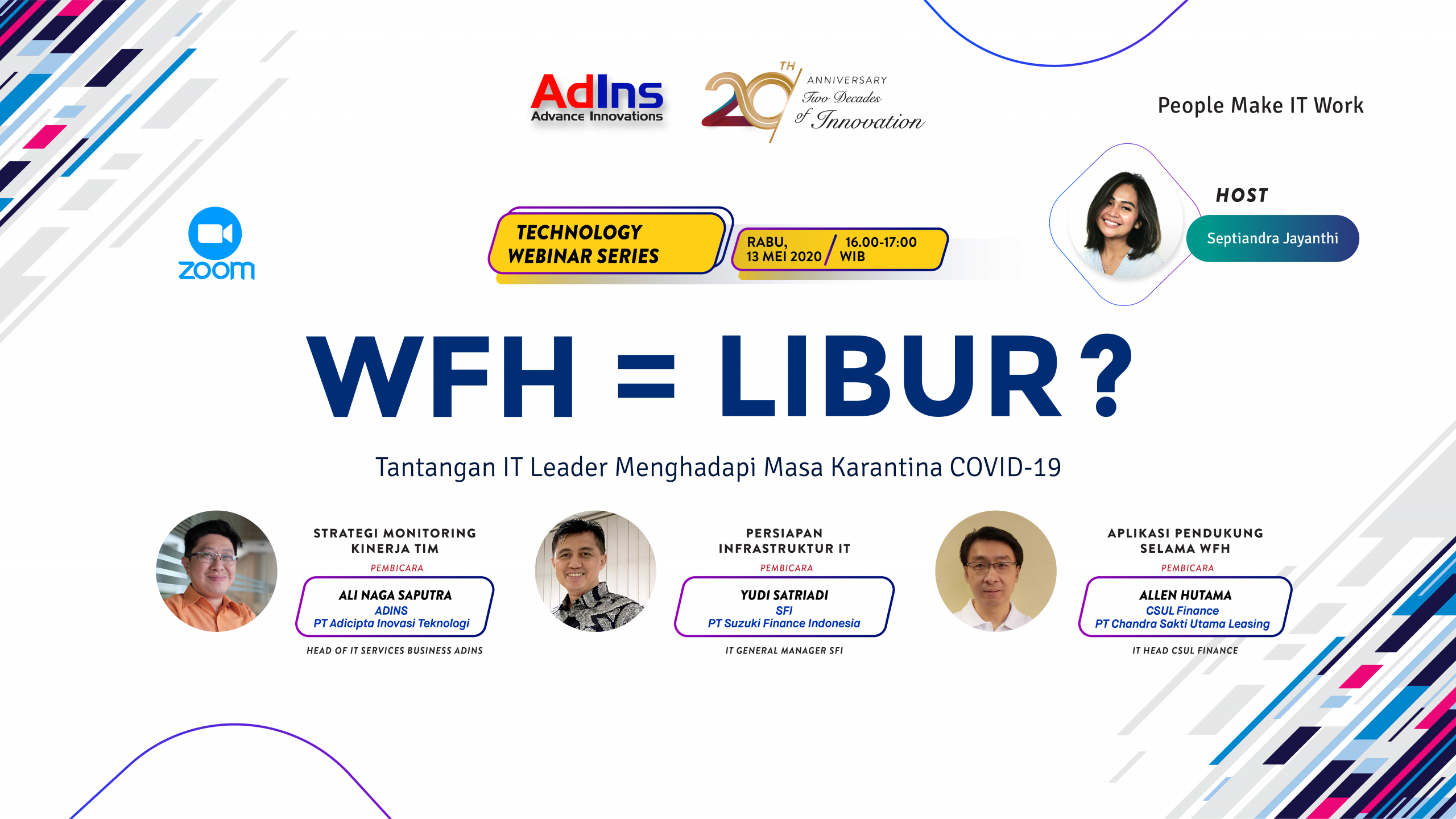 AdIns Continue to Work From Home & Holding Technology Web Seminar