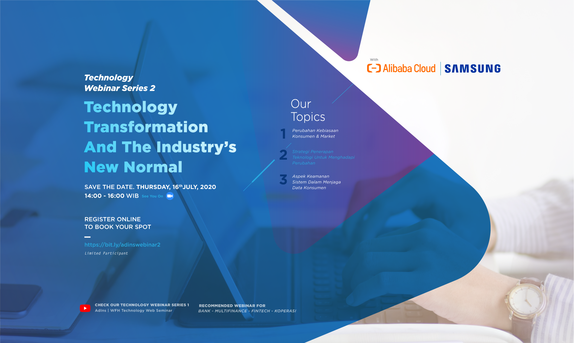 AdIns Technology Webinar Series 2 : Technology Transformation And The Industry's New Normal