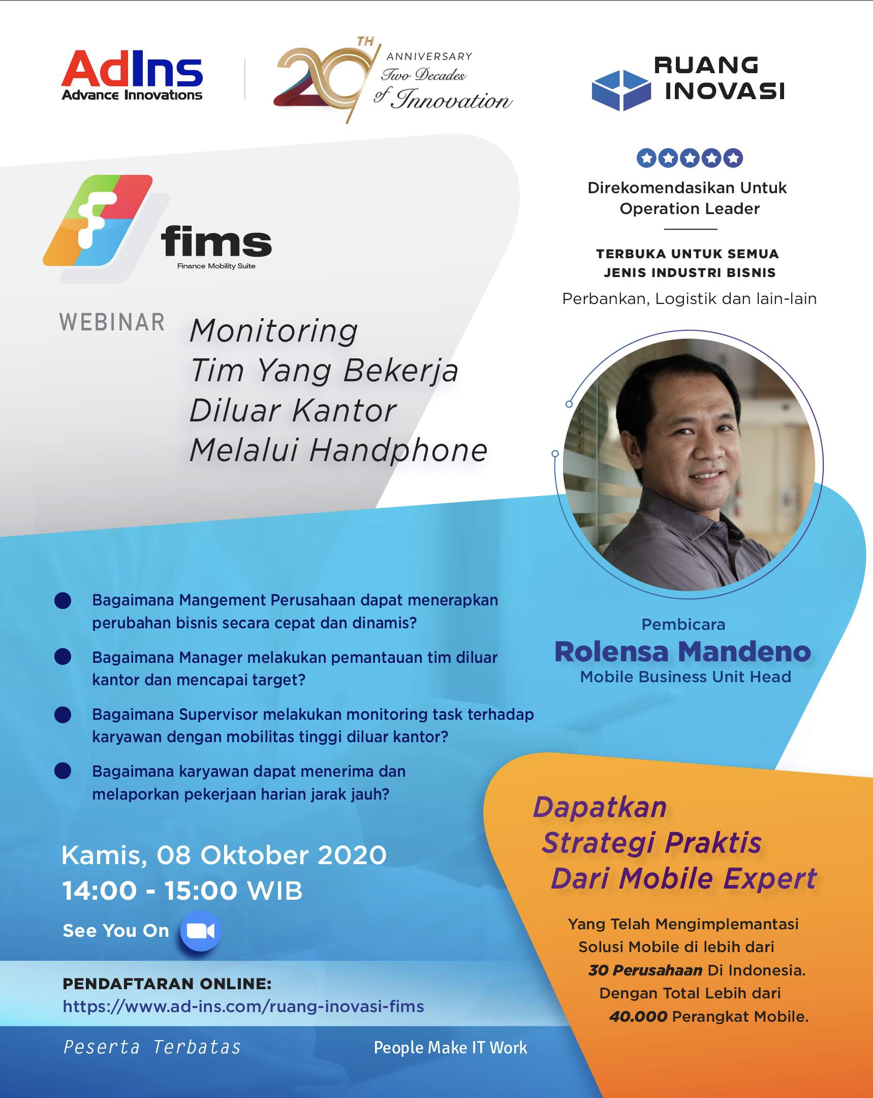Ruang Inovasi: FIMS Mobile Solution Webinar