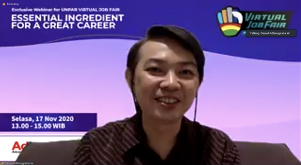 "debt collector, WEBINAR VIRTUAL JOB FAIR 2020   UNIVERSITAS KATOLIK PARAHYANGAN:   ""Essential Ingredient for A Great Career"" OLEH ADINS, Advance Innovations"