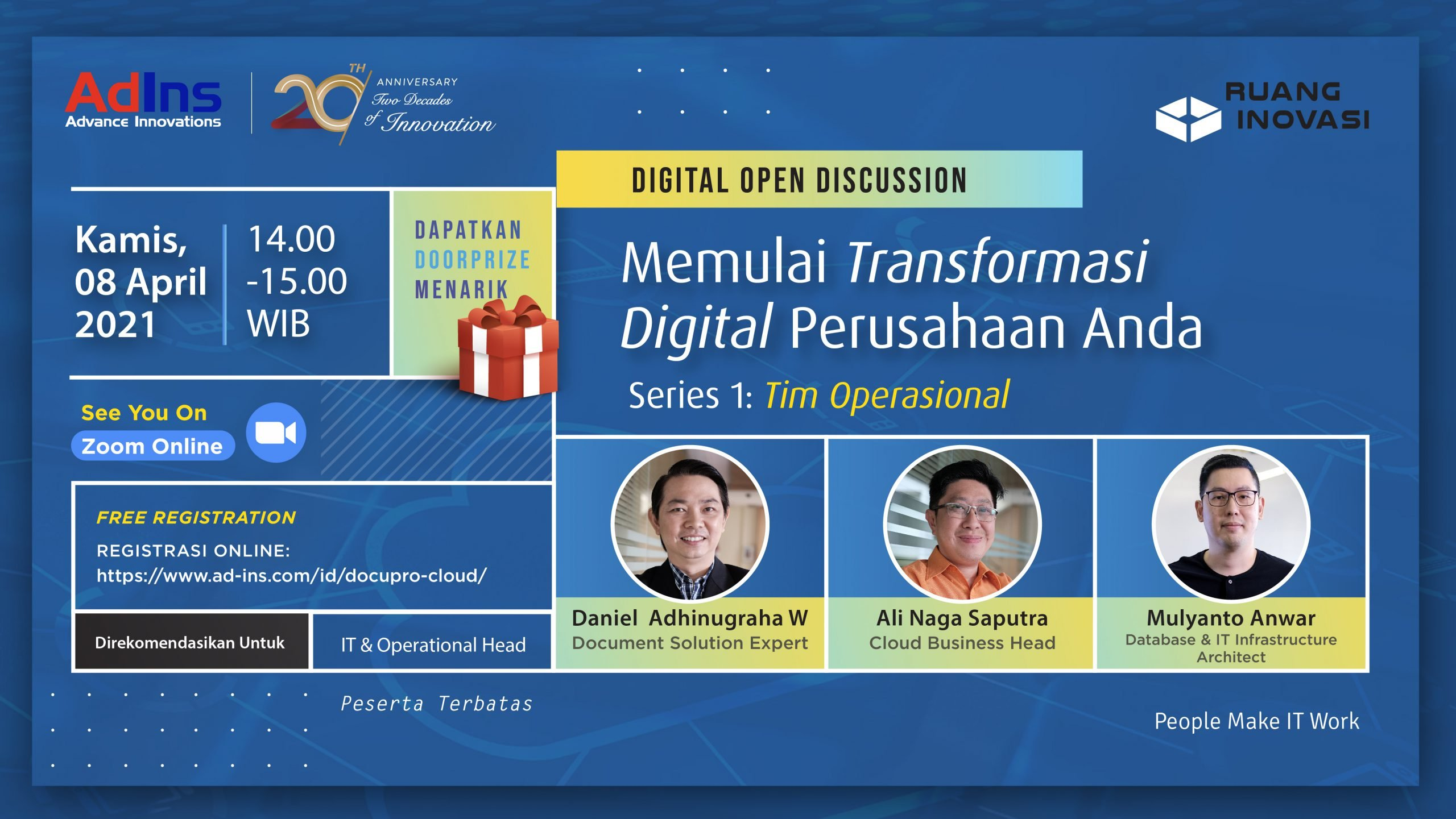 "Ruang Inovasi: ""Starting Your Company Digital Transformation"" (Seri 1: Operational Team)"